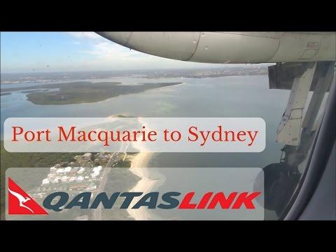 FULL FLIGHT: QantasLink Dash 8 Q300 | Port Macquarie to Sydney (1080p)