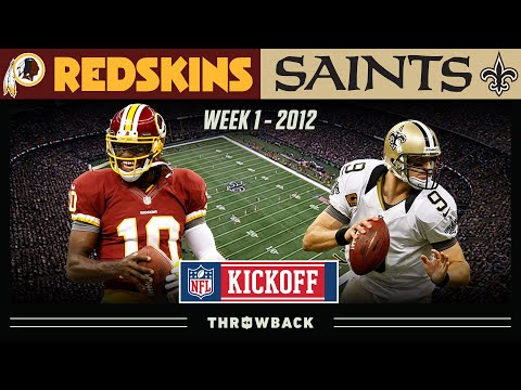 RGIII Goes Off In First Game! (Redskins vs. Saints 2012, Week 1) | NFL Throwback