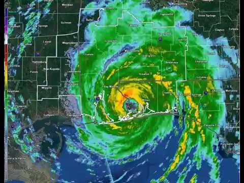 Hurricane Erin Animated Radar (August 1995)