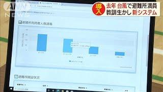 去年台風で避難所が満員に・・・混雑分かる新システム(20/07/29) - YouTube