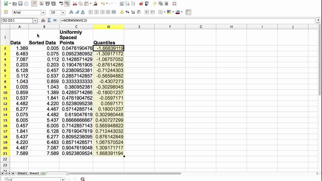 normal probability plot excel  Normal Probability Plot - YouTube