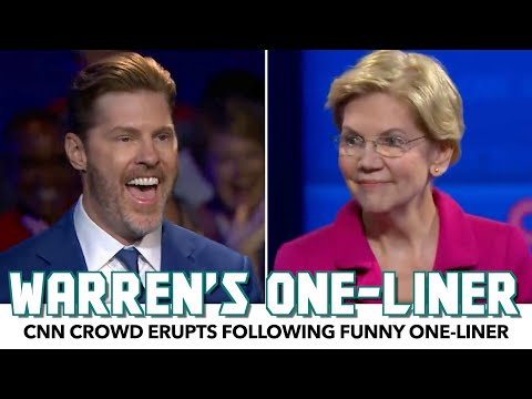 CNN Crowd Erupts After Warren's Funny One-Liner