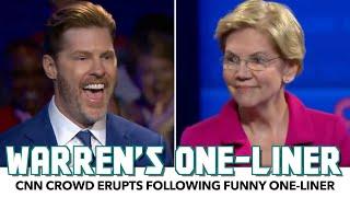 CNN Crowd Erupts After Warren's Funny One-Liner