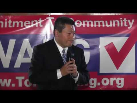 Surrounded by almost 100 friends and supporters, State Representative Tony Hwang (R-134th) announced his intention to run for the 28th District State Senate. The seat is currently held by Senator John McKinney who is running for governor.
