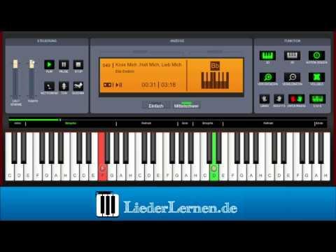 Ella Endlich - Küss Mich ,Halt Mich, Lieb Mich - Klavier lernen - Musiknoten - Akkorde