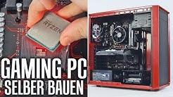 GAMING PC selber bauen Zusammenbauen Anleitung! Intel + AMD 2017
