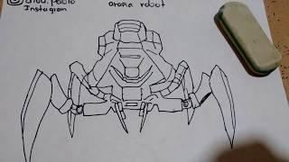 Cómo dibujar a la araña robot de slendytubbies/how to draw robotic spider from slendytubbies