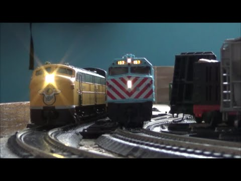 [HD] HO Scale Operating Session at BN KATO's Layout on 2-14/15-2015