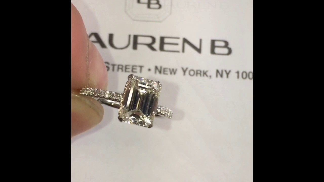 2 carat Emerald Cut Diamond Engagement Ring - YouTube
