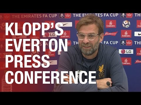 Jürgen Klopp's pre-Everton FA Cup press conference
