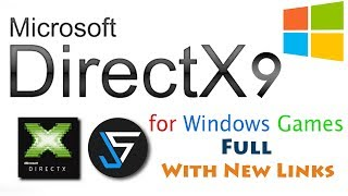 How to download and install directX 9 in Windows 7,8,8.1,10