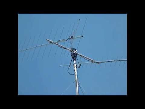 Ham radio satellite tracking antenna happens. can