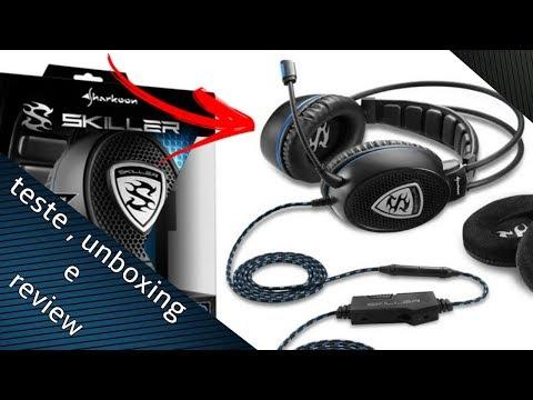 unboxing review e teste de mic  do headset sharkoon sgh1 pt br