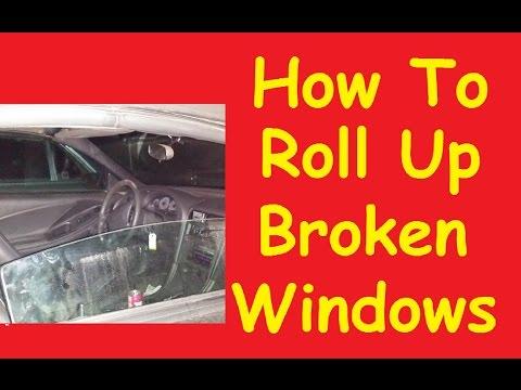 How To Roll up Stuck Broken Car Window Switch Motor Jump Video DIY