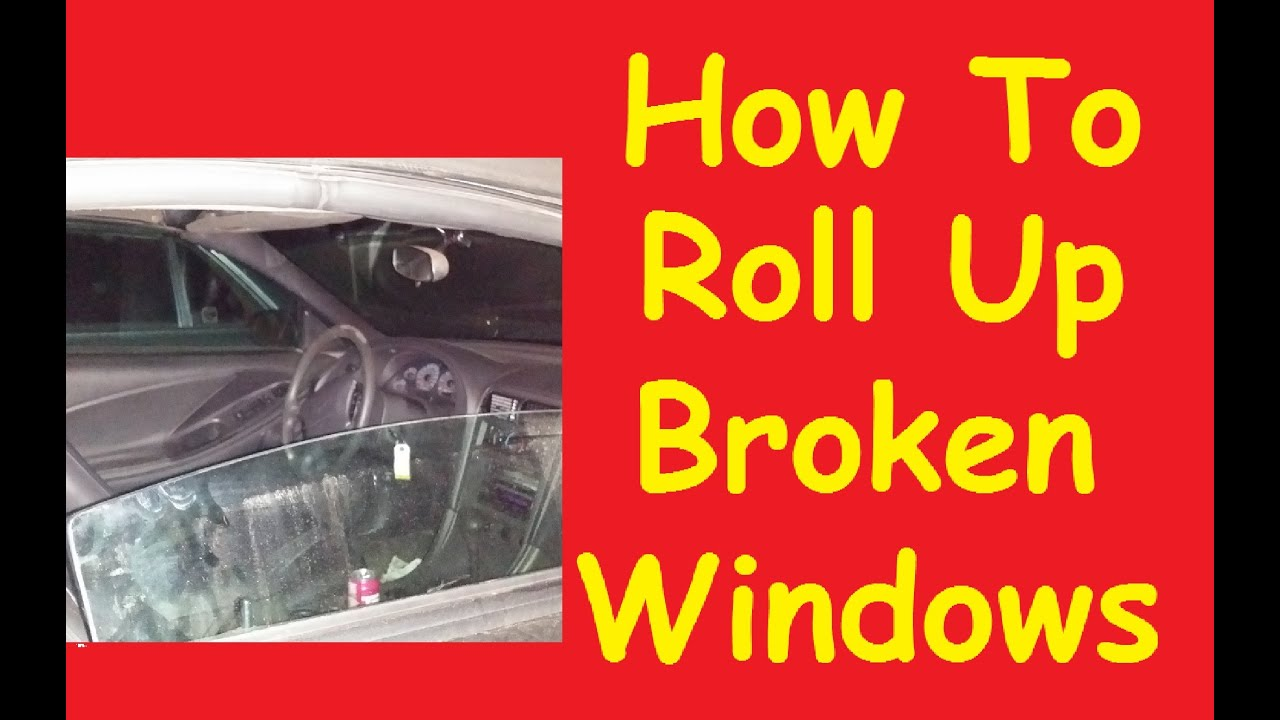 how to roll up stuck broken car window switch motor jump