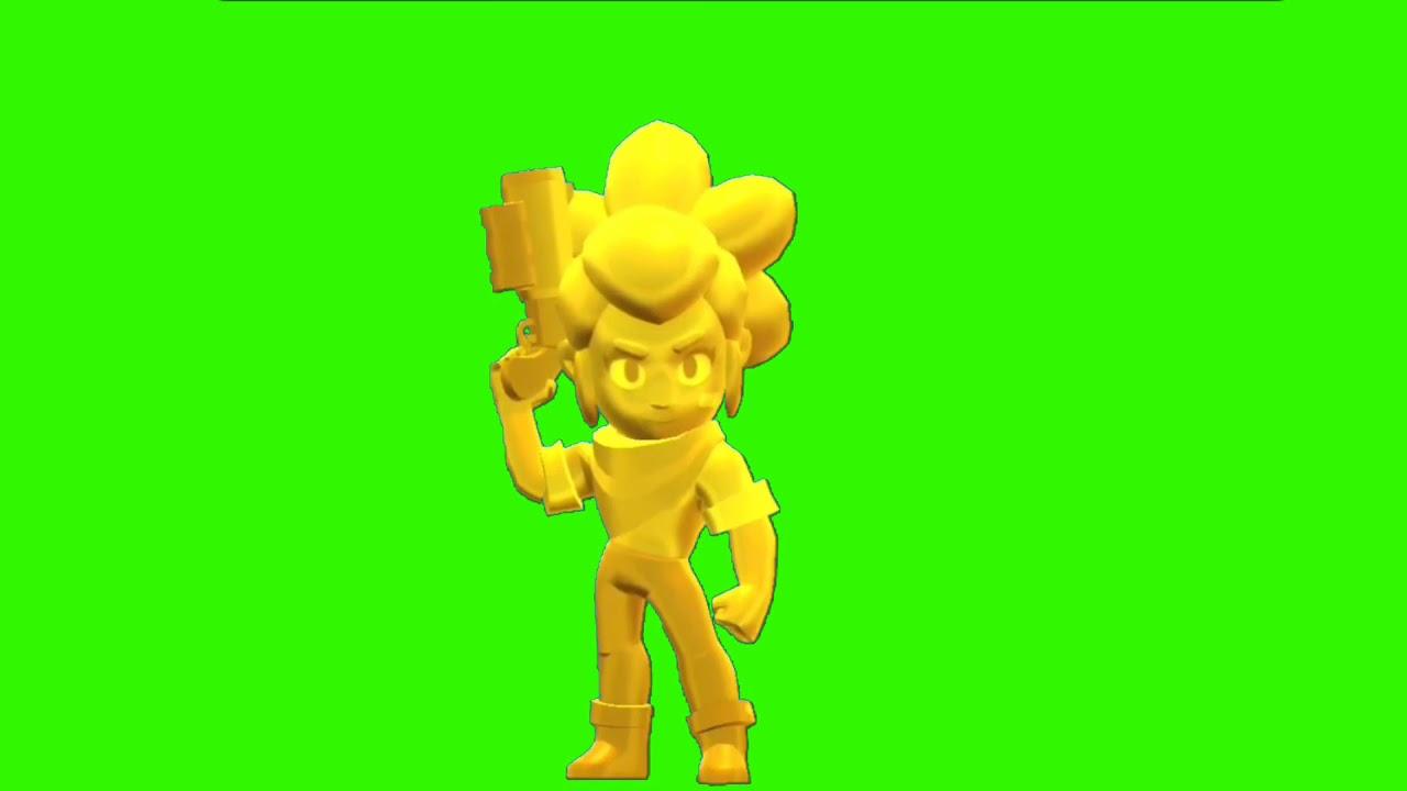 Футаж Золотая Шелли Бравл Старс | Footage green screen Gold Shelly Brawl Stars