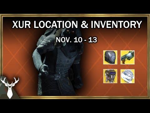 Destiny 2 - Xur Location and Inventory (Nov. 10 - 13)