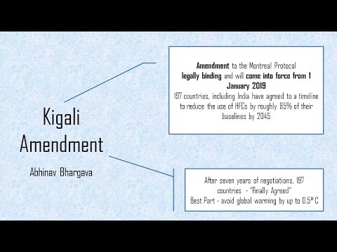 What is Kigali Amendment? for UPSC Mains