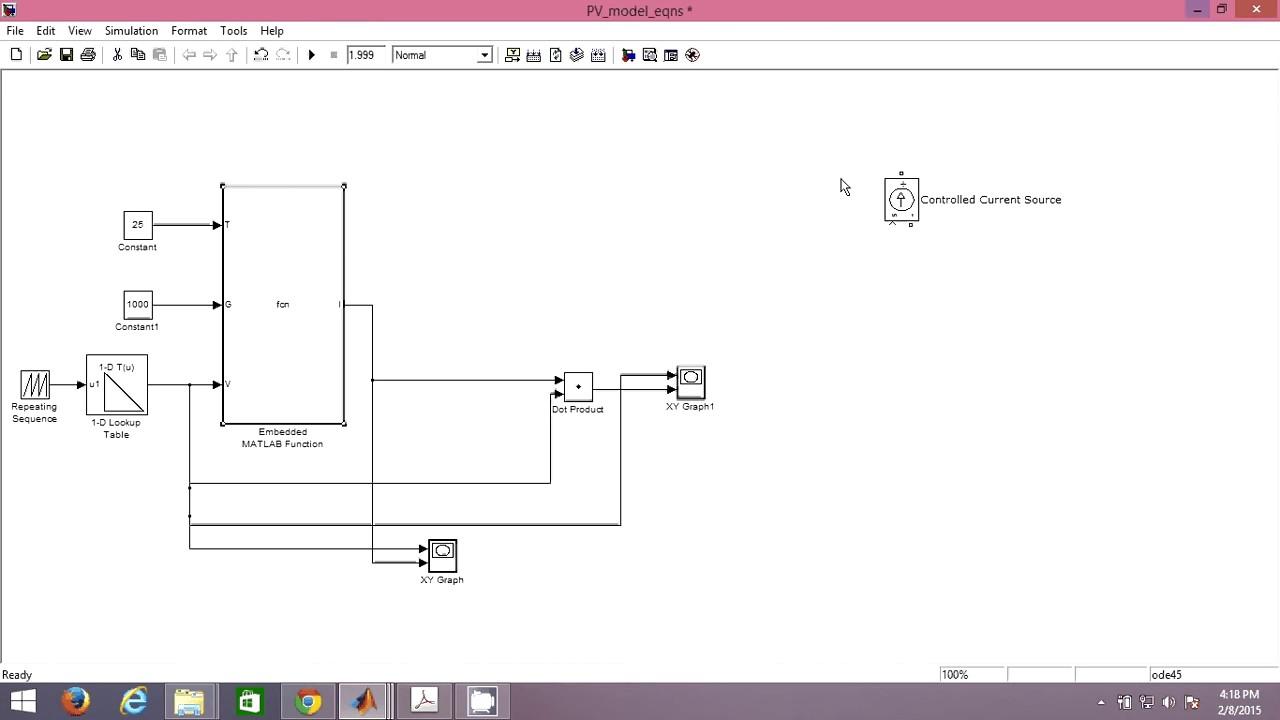 simulation d 39 un panneau solaire d 39 une seule diode youtube. Black Bedroom Furniture Sets. Home Design Ideas