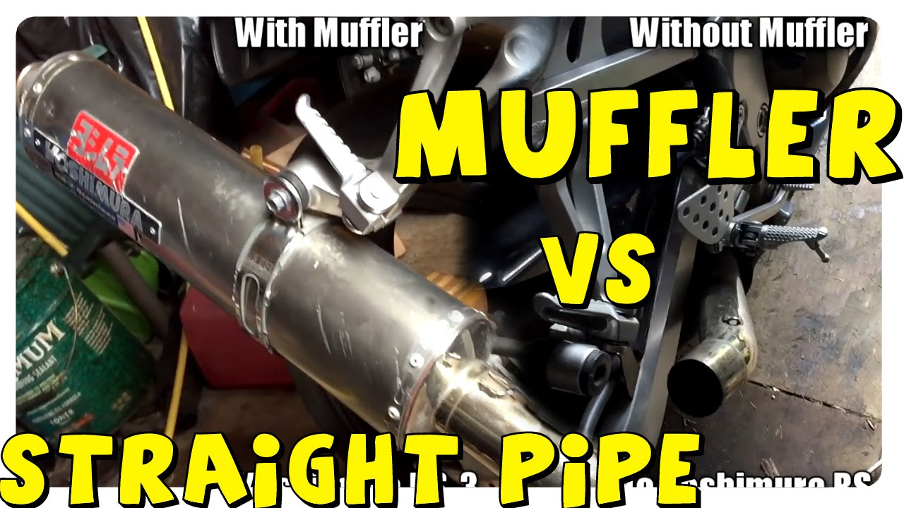 Muffler vs No Muffler (Straight Pipe) | Motorcycle