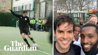 Brazilian legend Kaká seen playing football in Hackney, east London