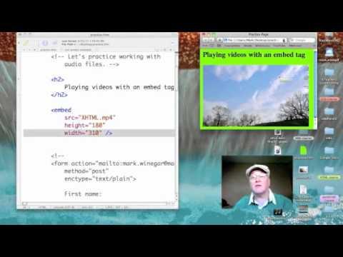 HTML: Embedded video