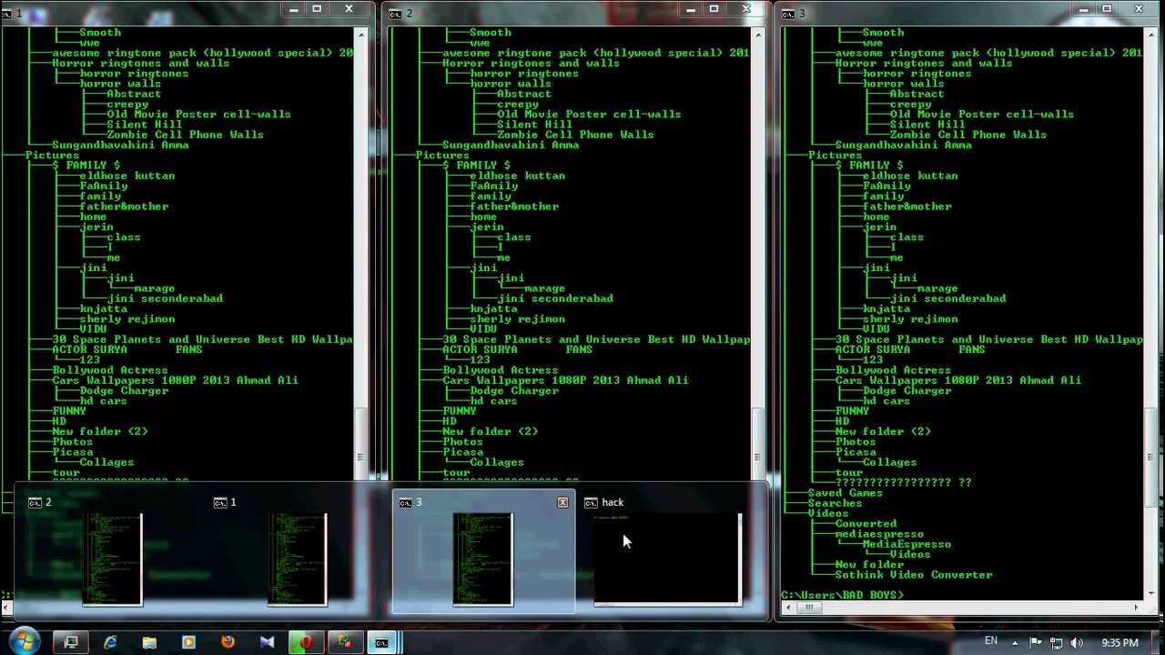 hacking with cmd
