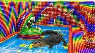Build Swimming Pool For Crocodile And Hamster Secret House With Magnetic Balls (Satisfying)