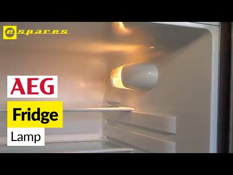 How To Replace A Fridge Light Bulb On An Aeg Refrigerator Youtube