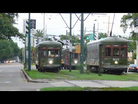 New Orleans Streetcar (NORTA): St. Charles Line (Line 12) -- FULL RIDE!