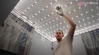 Светящийся потолок в ванную, инструкция и результат