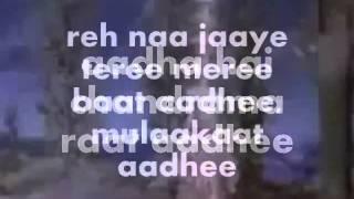 Adha Hai Chandrama Raat Adhi-Karaoke & Lyrics-Navrang