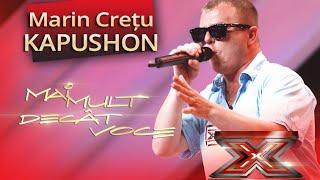 """Marian Crețu """"Kapushon"""" cântă propria melodie la X Factor, """"Frățică, dă-mi o bucățică!"""""""