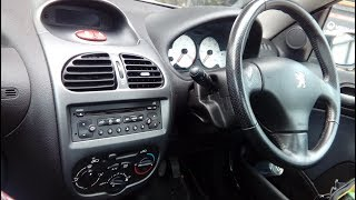 Peugeot 206 1998 - 2009 how to fit aftermarket radio  steering controls