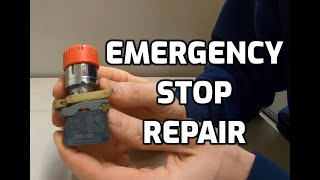 Emergency Stop Push Button Repair on CP Bourg 3002 Perfect Binder