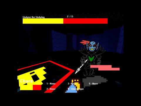 3d Undyne the Undying fight (Undertale fan game)