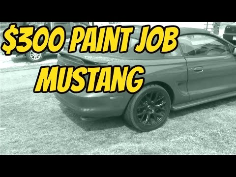 $300 Paint Job on the SN95 Mustang
