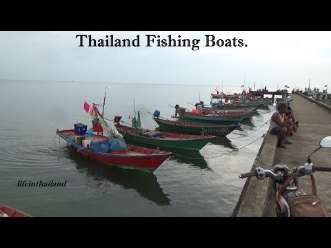 Thailand Fishing Boats, Chao Lao, Chanthaburi Thailand.