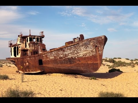 Aral Sea the life and Death on Google Earth Map
