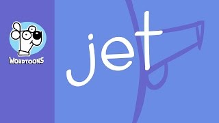 The Word Jet Into A Cartoon Jet ( Wordtoon Jet )