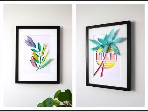 How to make Paper Plants & Garden mini Leaf Decoration