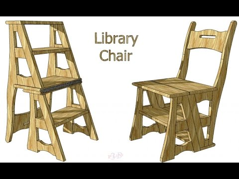 Library Chair Ladder Pub Height Kitchen Table And Chairs Creating A Transforming Youtube