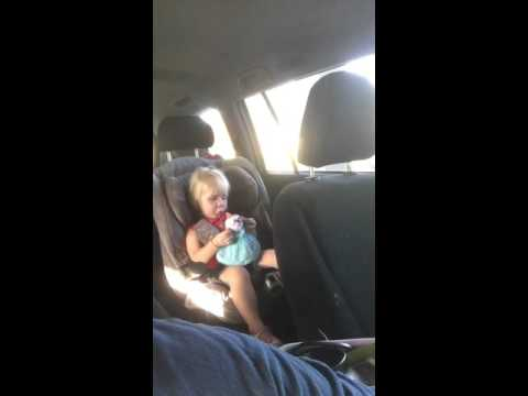 2 year old's flawless song mash up