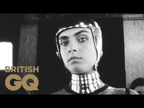 Cara Delevingne Is a Super Sexy Robot Shot on a Kodak Super 8 Camera | GQ Cover Stars | British GQ
