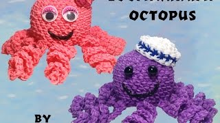 New Loomigurumi / Amigurumi Octopus - Rubber Band Crochet - Rainbow Loom - Hook Only