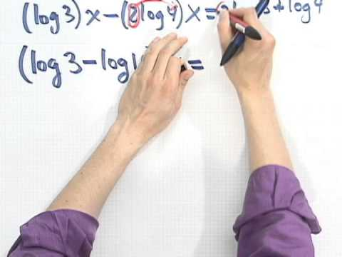 Solving Exponential Equations Using Logs