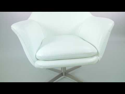 Bruce Swivel Contemporary Arm Chair White