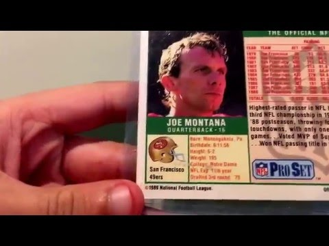 Joe Montana Signed Card