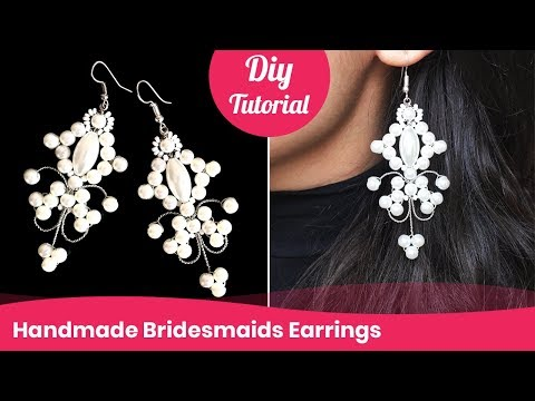 How to Make Bridesmaids Earrings. DIY Wedding Accessory Ideas. - YouTube