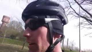 Fietsbril op de fiets